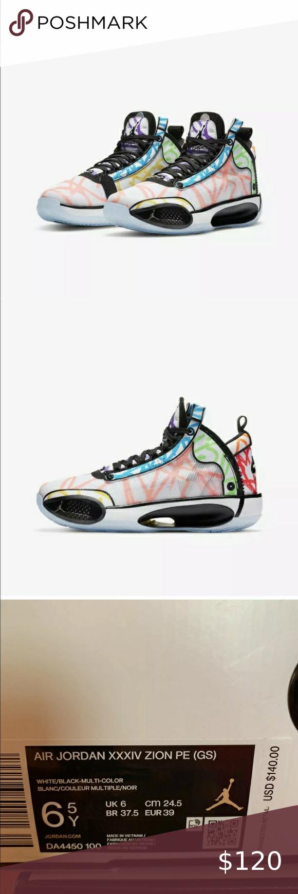 Nike Air Jordan Xxxiv 34 Zion Williamson Pe Nike Air Jordan Xxxiv 34 Zion Williamson Pe Coloring Book Da4450 100 M6 5y W8 Air Jordans Nike Air Jordan Nike Air