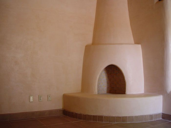 A Simple But Lovely Kiva Fireplace In An Adobe Home Via Affordable Adobe Adobe Fireplace Dollhouse Living Room Adobe House
