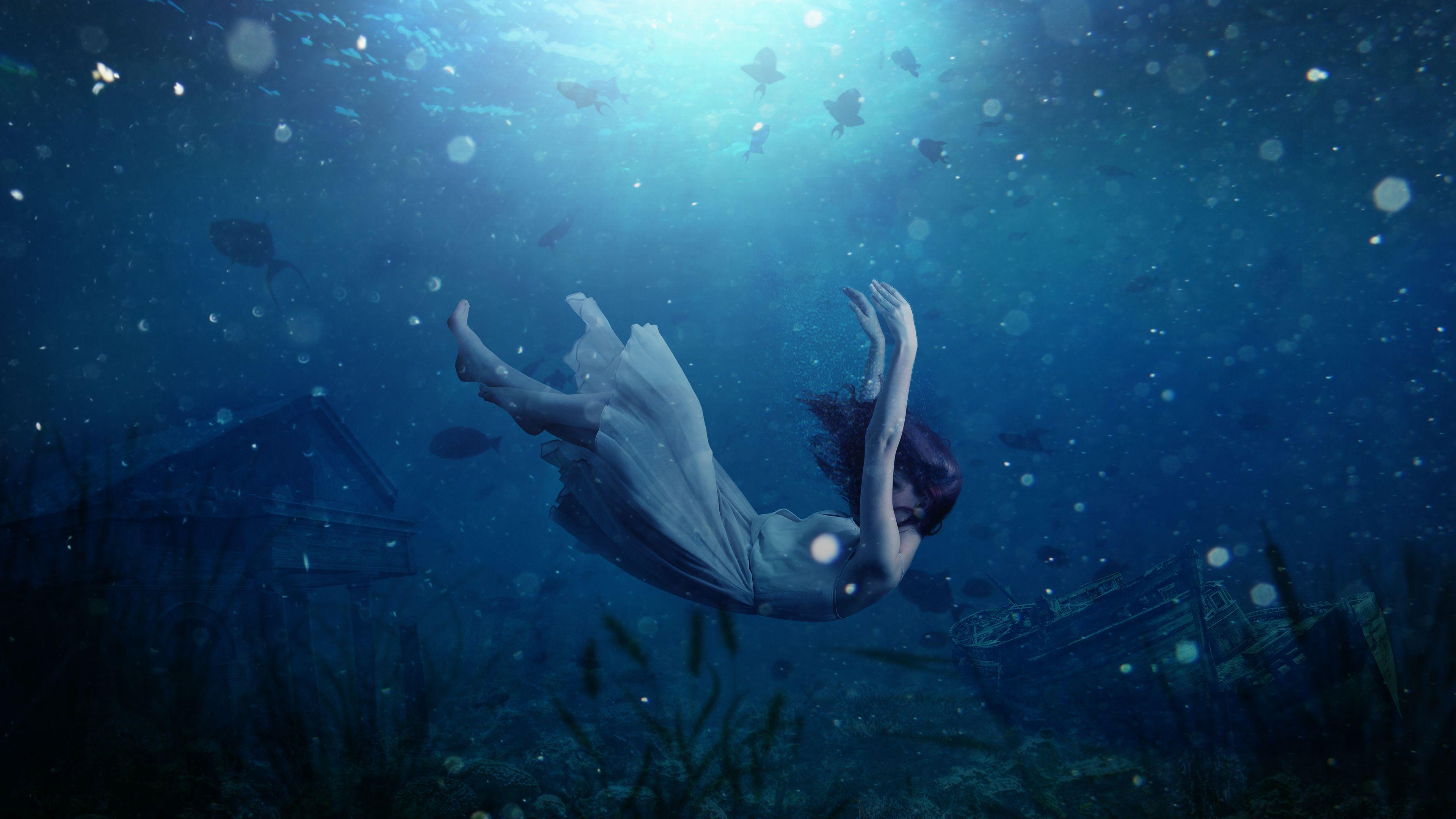 Girl Underwater Dream 4k Blackberry Playbook Apple Ipad 1