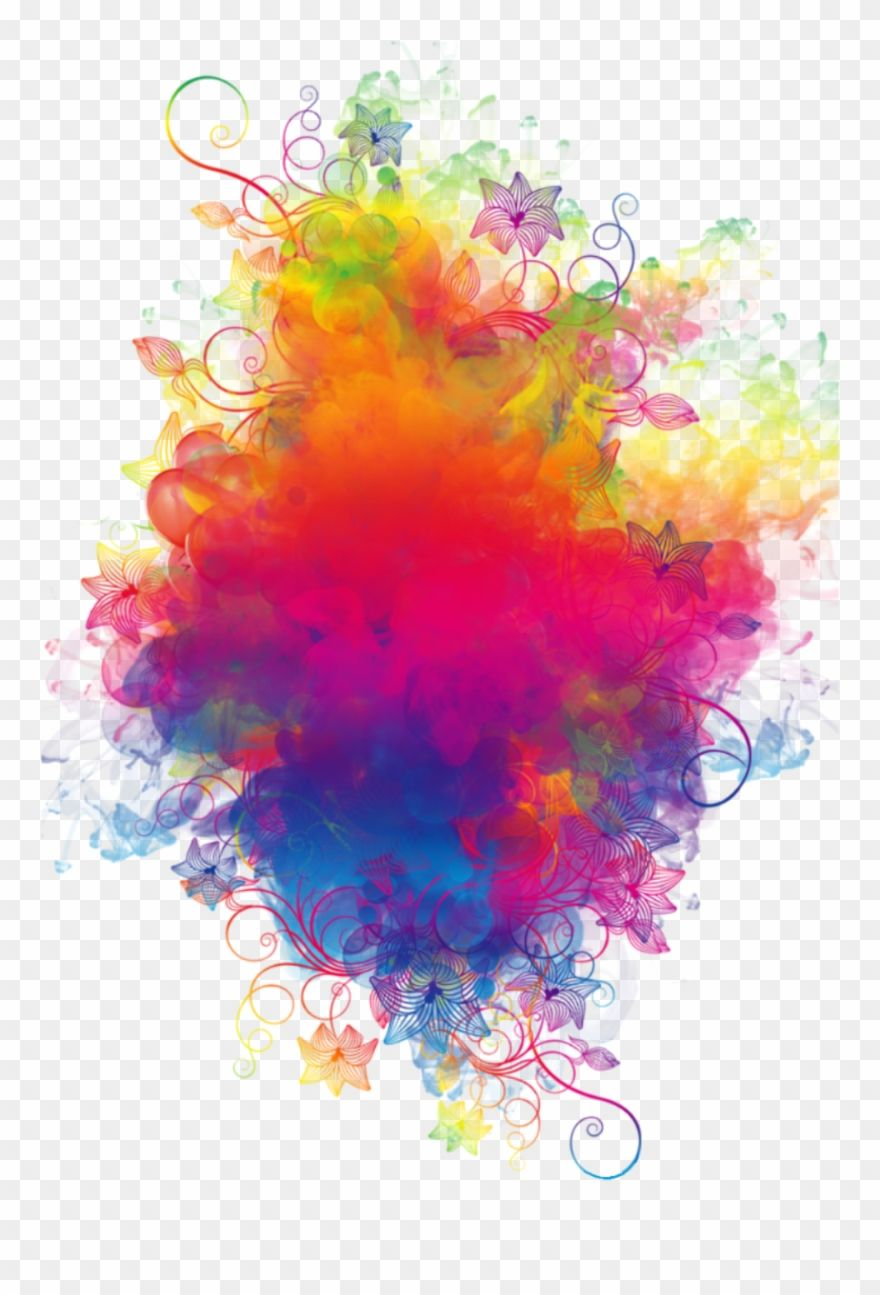 Download Hd Boom Smoke Colorful Watercolor Rainbow Flowers Colorspl Colored Smoke Background Png Clipart A Colored Smoke Color Splash Art Color Splash Effect