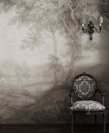This makes me think of the Emily of New Moon books and her wallpaper choices for the Disappointed House.