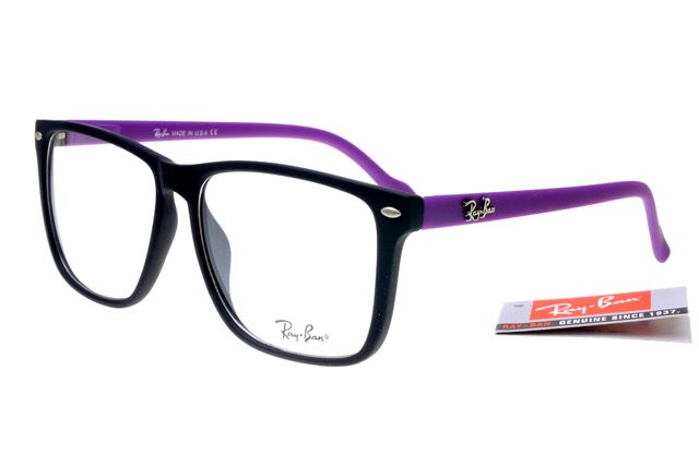 fake ray ban eyeglass frames  ray ban square 2428 black purple frame transparent lens rb28