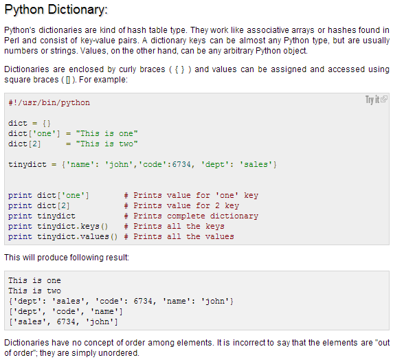 Dictionary Examples | Programming in Python | Pinterest | Python