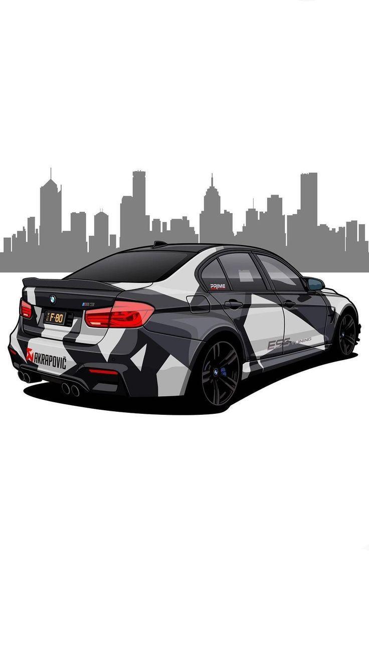 Bmw Desenhos De Carros Carros Rebaixados Desenho Arte Para