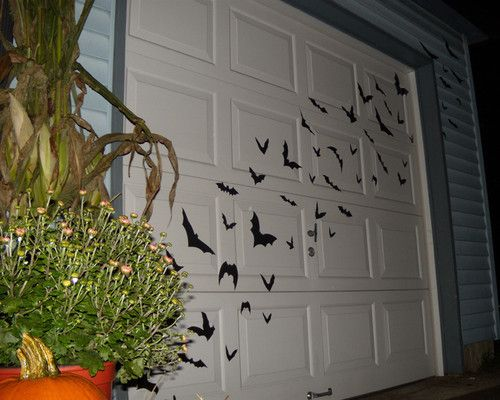 Like this Idea, maybe some birds or vines,hum! I have to think about - halloween garage ideas