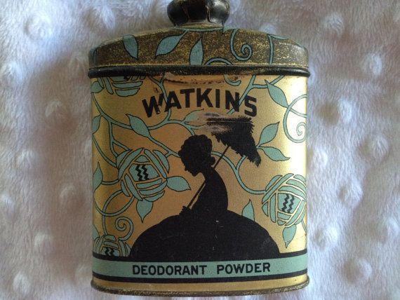 SALE  20Rare Watkins Silhouette Deodorant by twinspruceantiques, $23.95