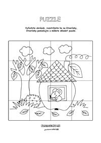 Puzzle - jabĺčko - pre deti