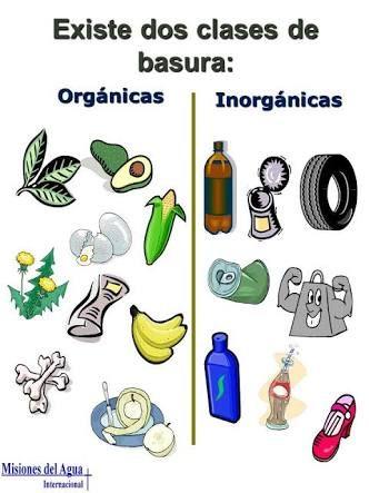 Basura Organica E Inorganica Buscar Con Google Basura Inorganica Basura Organica Basura