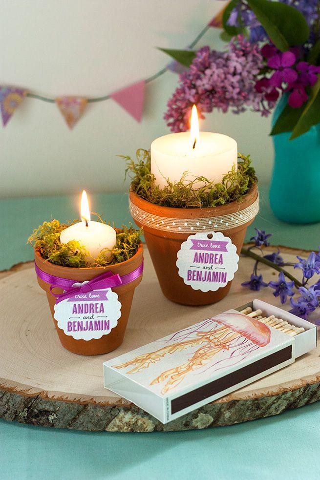 DIY Terracotta Candle Centerpiece