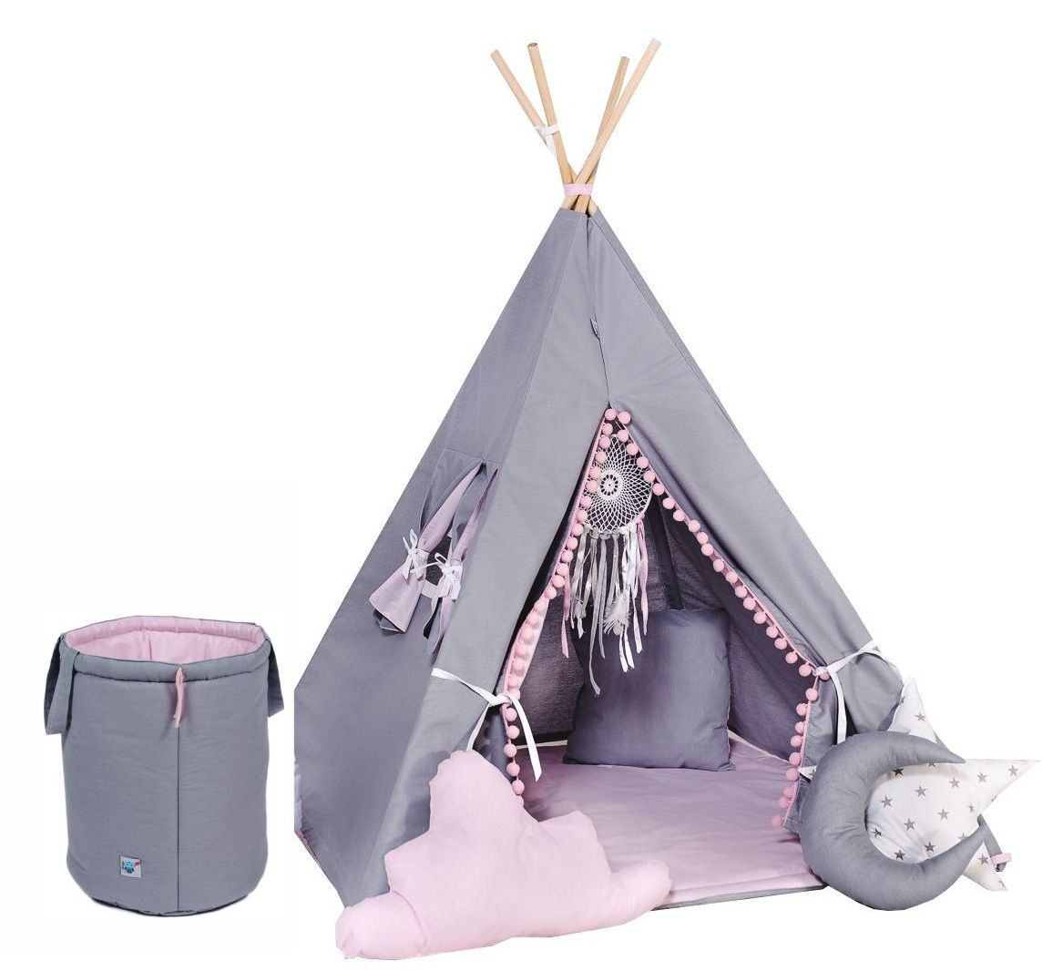 Namiot Tipi Wigwam Wielki Zestaw 11 Elementow 7121729679 Oficjalne Archiwum Allegro Toddler Bed Decor Hanging Chair