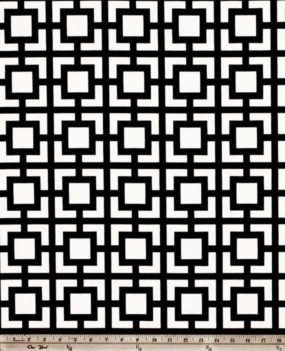 Black And Off White Valance Gigi Macon Geometric Designers Pattern Window Topper Choos