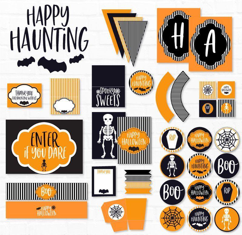 Halloween Pennant Flag Banner Boo Instant Printable