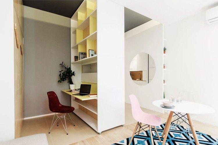home office bewegliche wand mini wohnung multifunktional ...