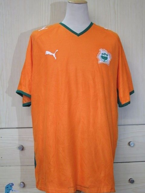 Ivory Coast Puma 2007 2009 Home World Cup 2010 Football Shirt Soccer Jersey  XXL  683a6c863