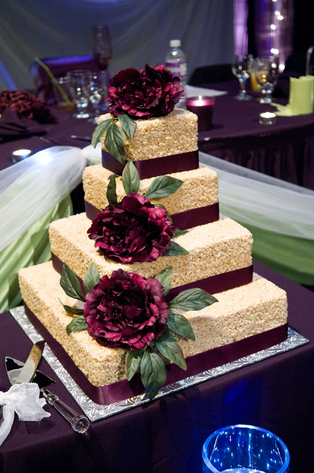 this my kinda cake rice krispie wedding cake wow cakes desserts sweet snacks. Black Bedroom Furniture Sets. Home Design Ideas