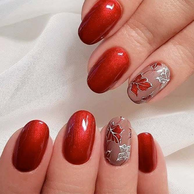 Trendy Fall Color Nails for Your Perfect Mani ☆ See more:  https://naildesignsjournal.com/trendy-fall-color-nails-designs/ #nails  #beautynails   Pinterest ... - Trendy Fall Color Nails For Your Perfect Mani ☆ See More: Https