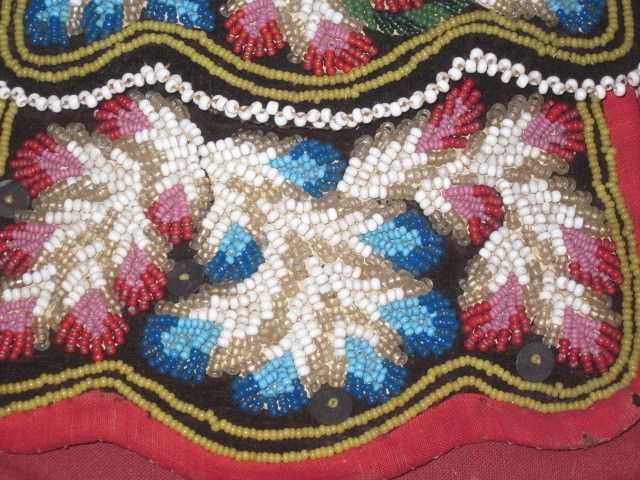 MAGNIFICENT Antique Victorian Hand Beaded Small Reticle/Purse~Great from doriansroom on Ruby Lane