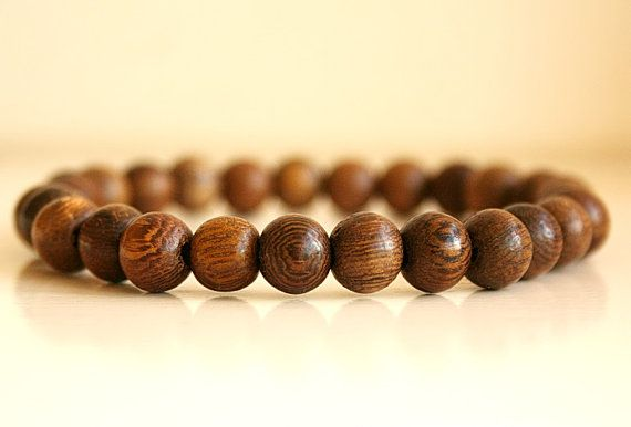 Mens Beaded Bracelet Wood Bead Uni Beads Boho
