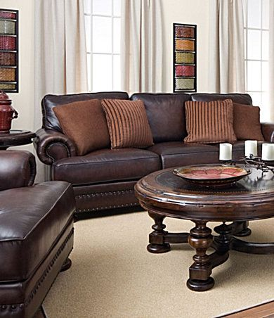 dillards bernhardt seth leather sofa 1600 sale | For the ...