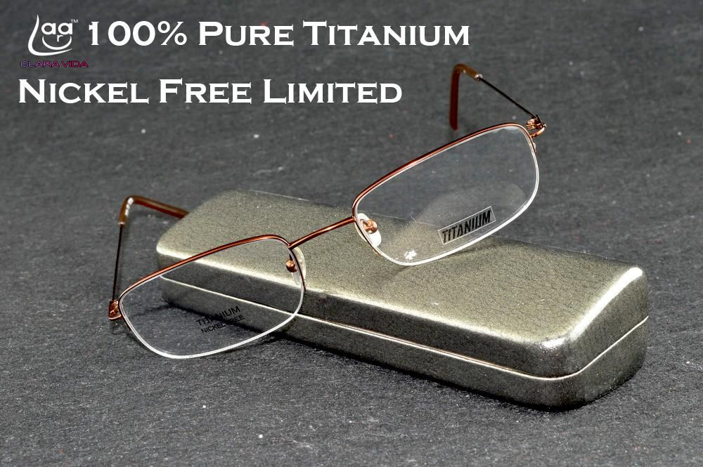709db75a5a LUXURY MEN 100% TITANIUM HIGH STD. BROWN BLACK DESIGNER HALFRIM BRAND  READING GLASSES +1+1.5 +2 +2.5 TO +6. Yesterday s price  US  31.98 (26.33  EUR).