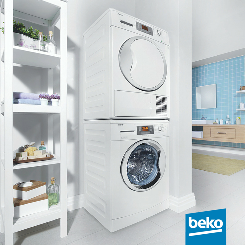 Space saving the beko laundry stacking kit is a smart space saving solution in a 60cm - Tumble dryer for small space pict ...
