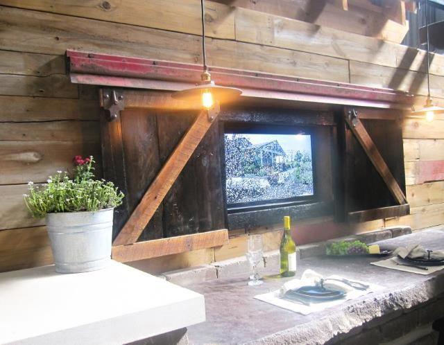 Garden TV Screen | Man cave patio ideas, Outdoor tv cabinet on Man Cave Patio Ideas id=72969