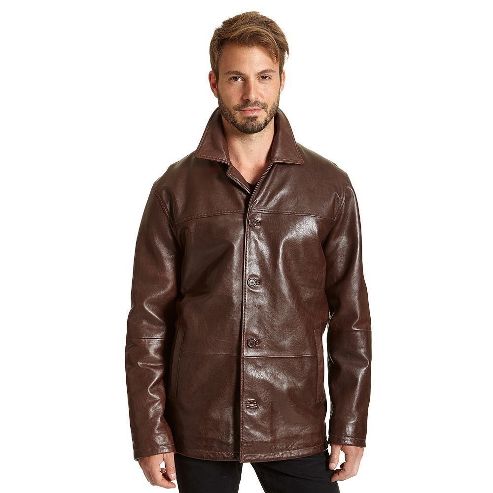 e9593256162 Big   Tall Excelled Leather Car Coat