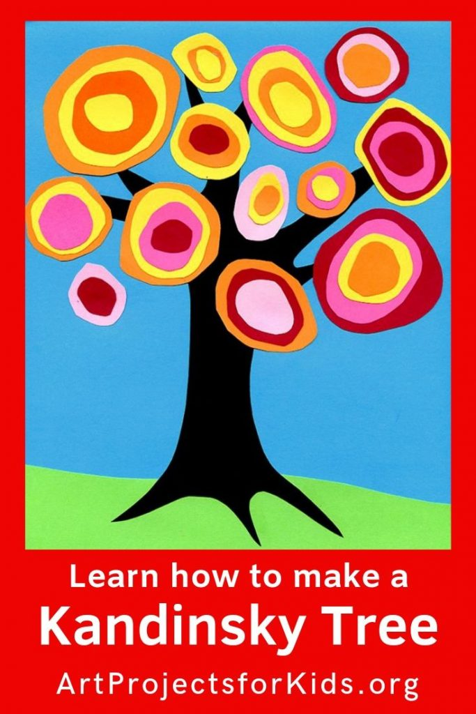 Kandinsky Tree Collage · Art Projects for Kids