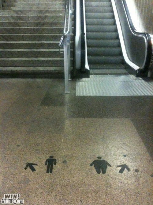 Too funny!  I'm taking the stairs next time.
