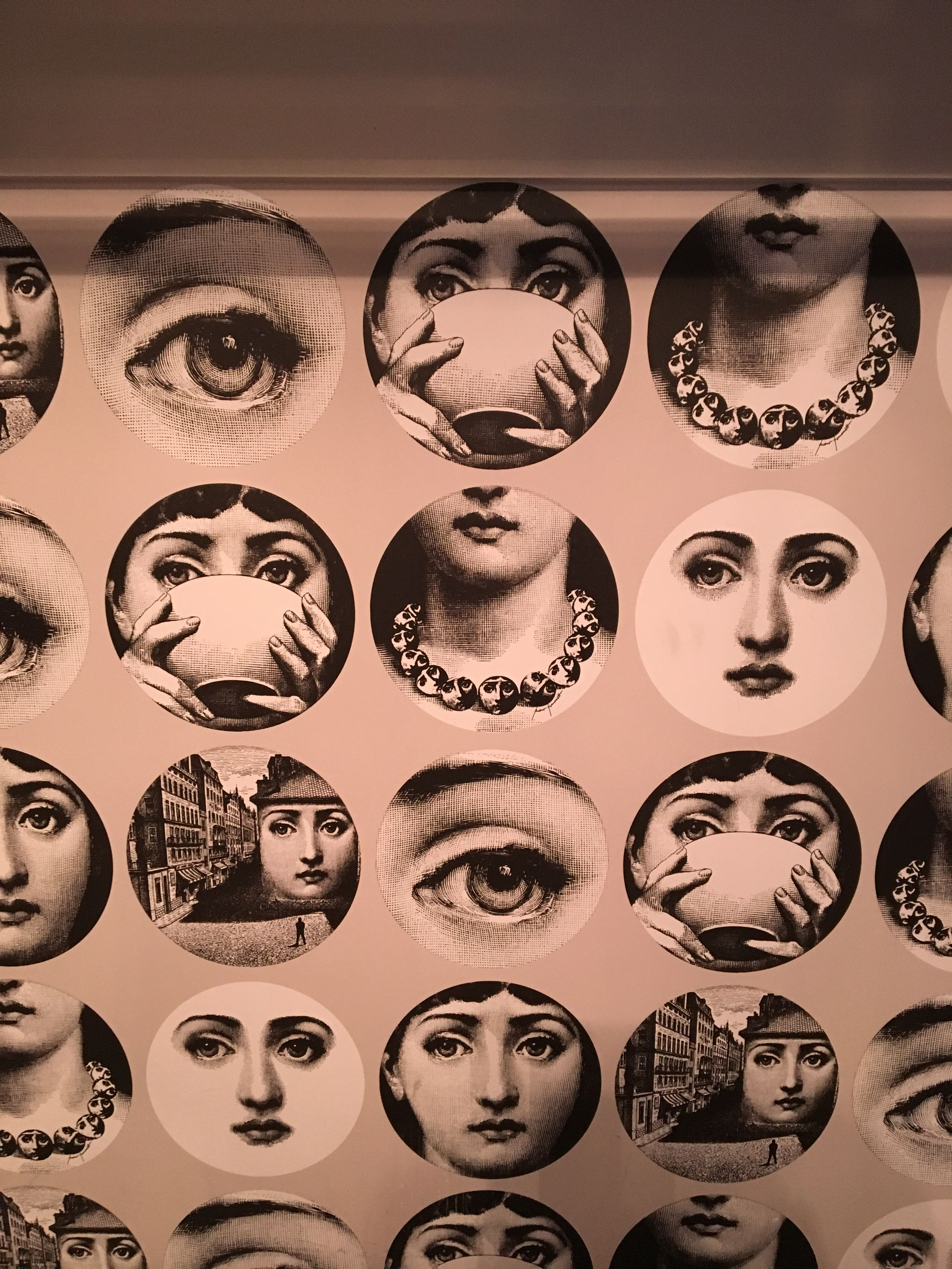 A Unique Wallpaper Pattern By Fornasetti Called Tema E Variazioni Being Used At The Cosmopolitan Hotel
