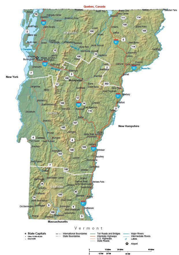 Vermont State Map Enjoy the Journey Pinterest Vermont