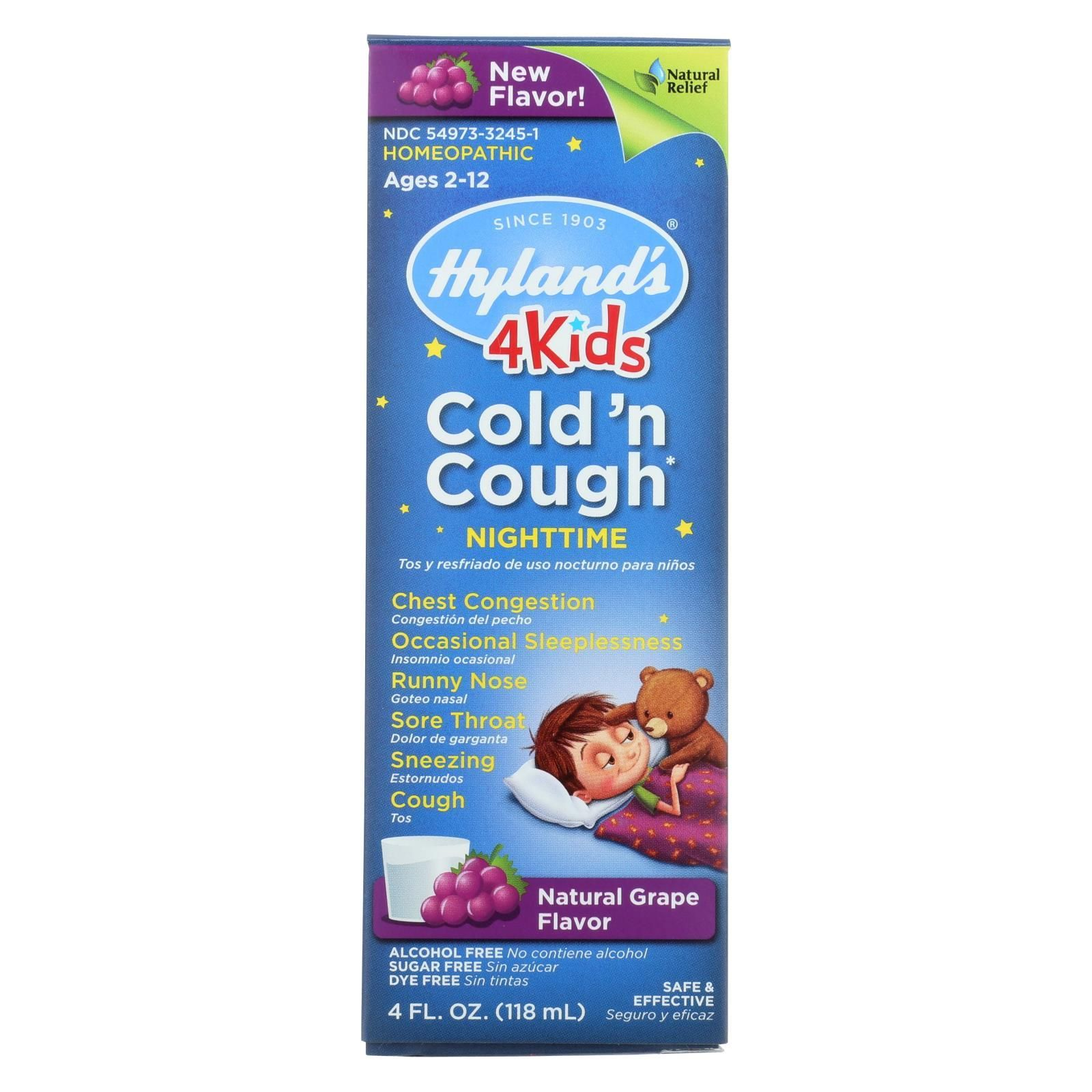 Buy, Hylands Homeopathic Cold n Cough 4 Kids Nighttime