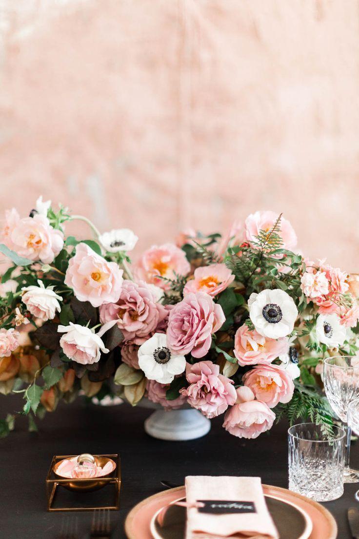 Chic + Modern Pink Wedding Inspiration on Style Me Pretty ...