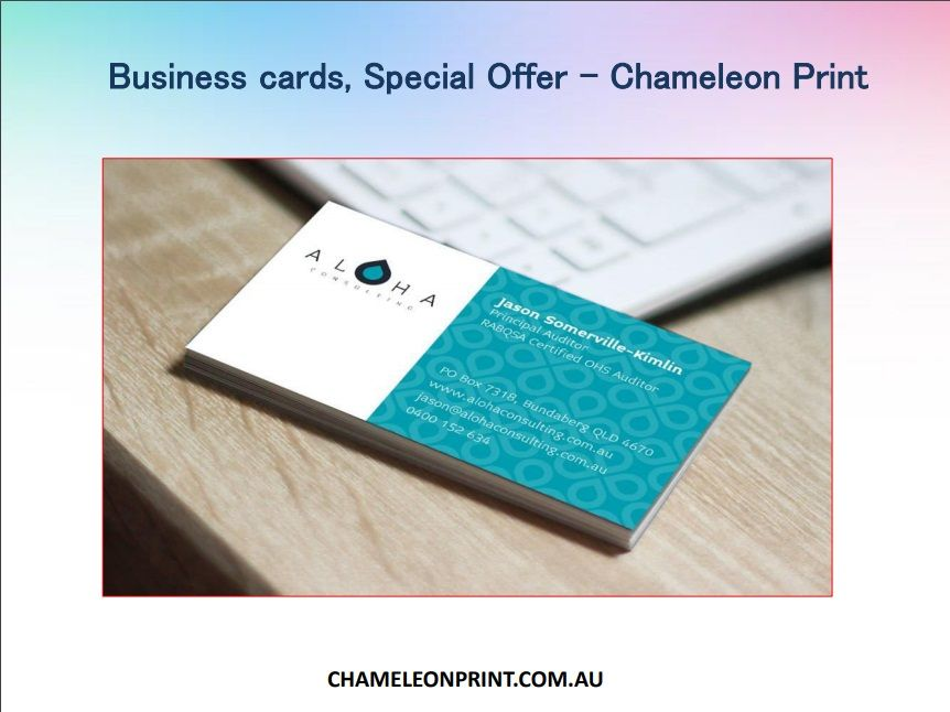 Business cards special offer in australia chameleon print high business cards special offer in australia chameleon print high quality full colour front and black ink on the reverse side printed on quality 350gsm reheart Choice Image