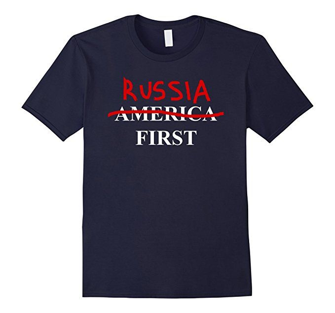 Amazon.com: Trump Putin T-Shirt | America I mean Russia First: Clothing