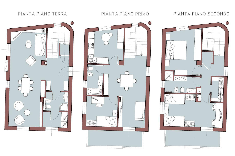 Piante Progetto Villa Su Tre Piani Planimetrie Di Case Progettazione Di Interni Progettazione