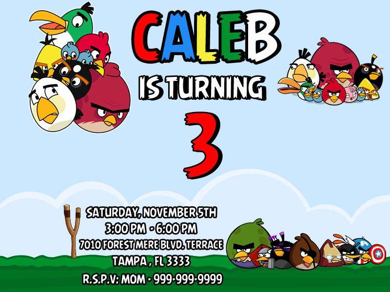Angry Birds Invitation. Angry Birds Birthday Invitation. Printable ...