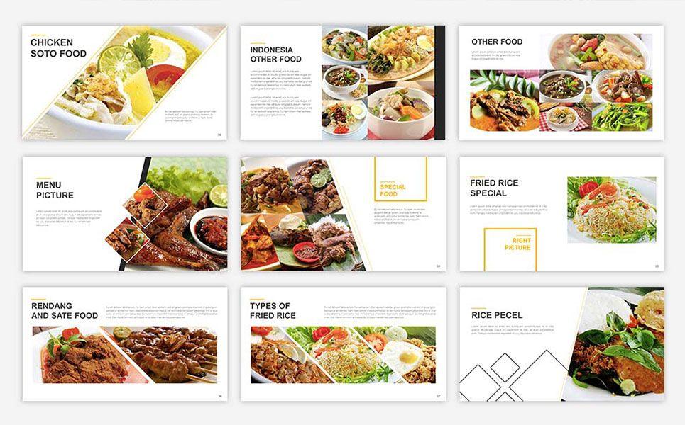 Food Presentation PowerPoint Template #67553 | Design Ideas