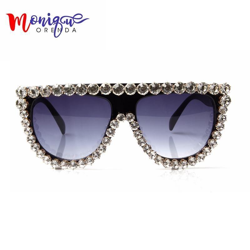 a5f0d2227a9 MONIQUE Sunglasses Wome Brand Designer Oversize Glasses Luxury Rhinestone  Sungalsses For Women Vintage shades Female