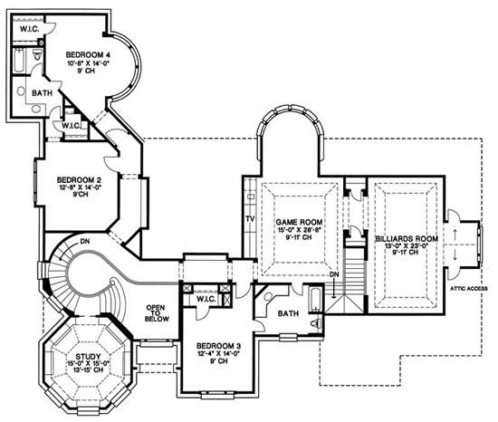 One story 4000 square foot open floor plan essentials of two story house plans backyard Two story house plans