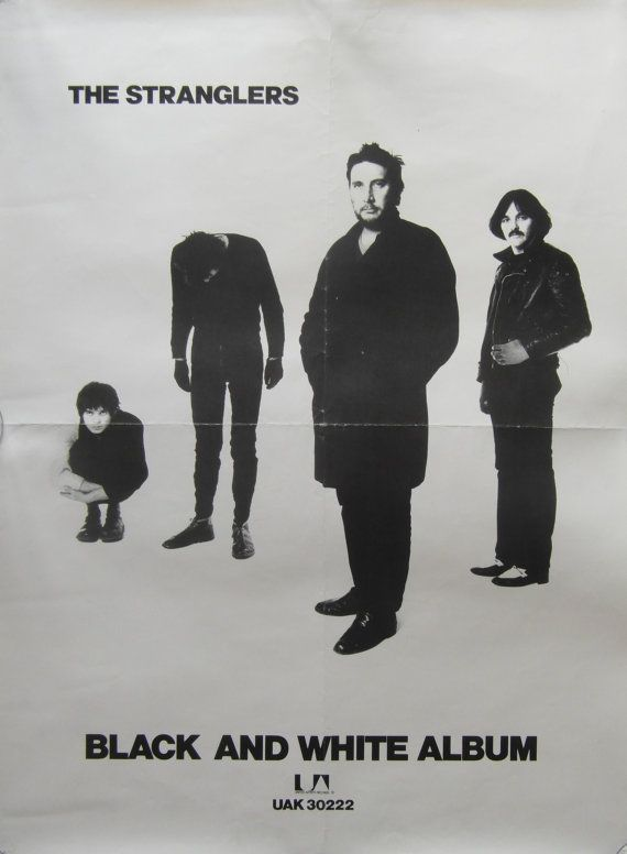 Original 1978 The Stranglers Promotional Poster for the Album 'Black and White'
