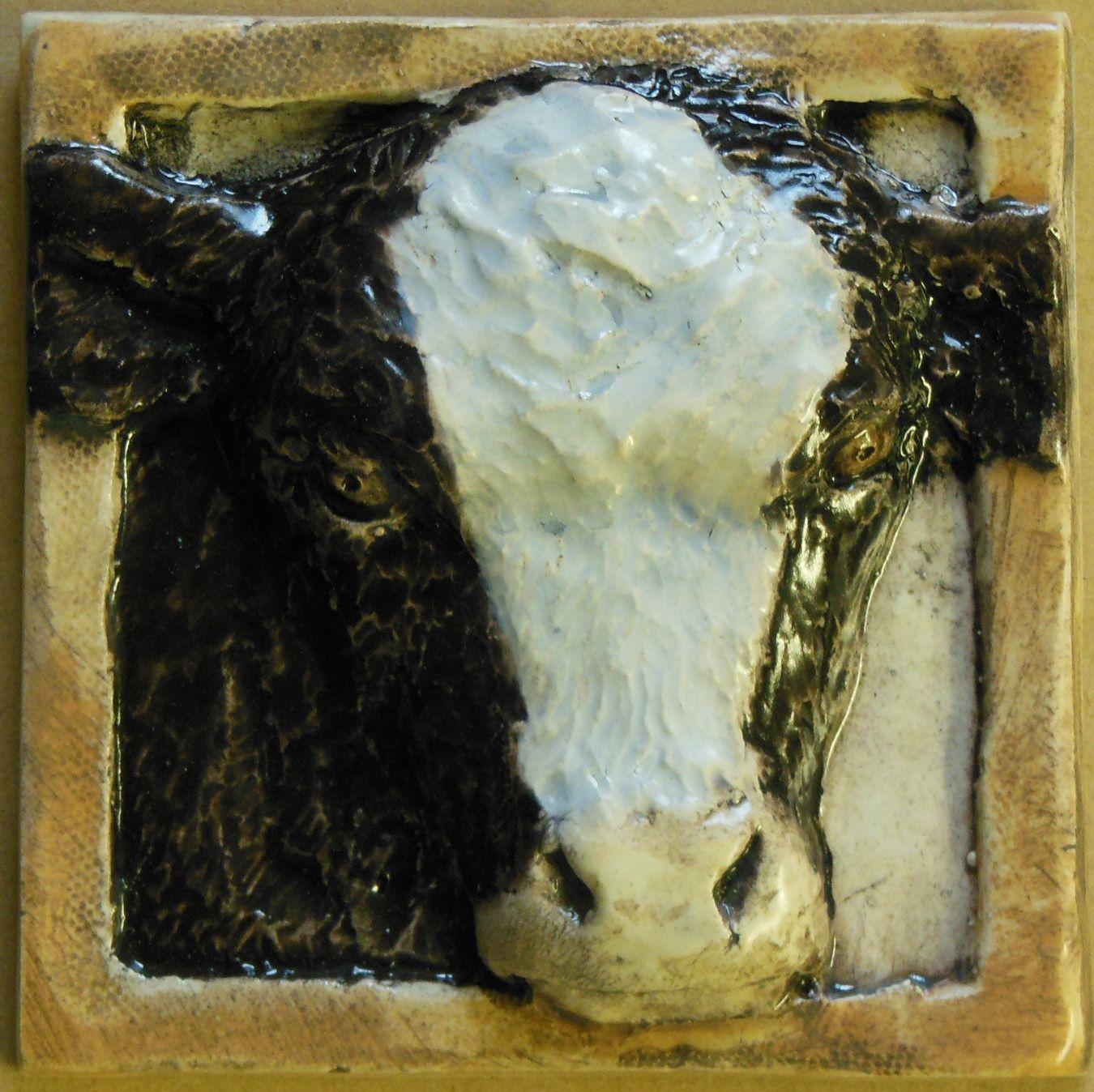 Calf decorative ceramic tile 4x4 3200 barnyard and farm calf decorative ceramic tile 4x4 3200 dailygadgetfo Images