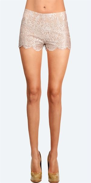 Alexis - Lace Tailored Short - Blush