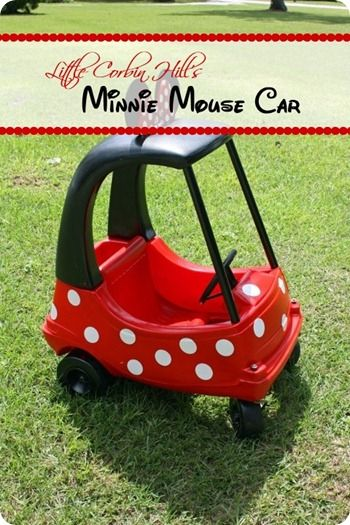 minnie mouse car upcycle