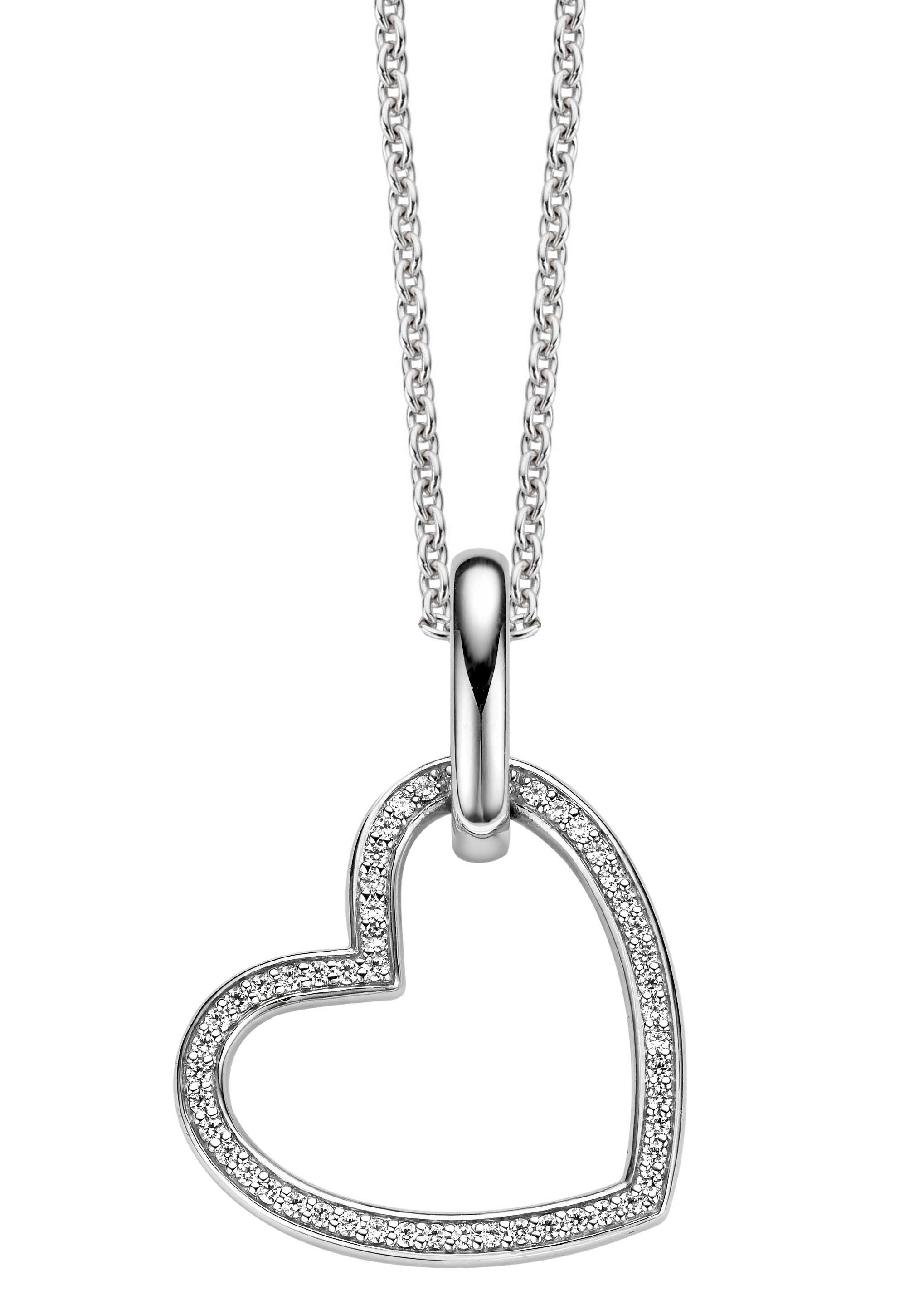 Ti sento heart pendant with classic silver chain a stunning