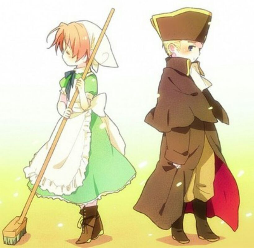 """Chibitalia - Italy x Germany/ holy roman empire """"Why is it that i can't even go near you..?"""""""