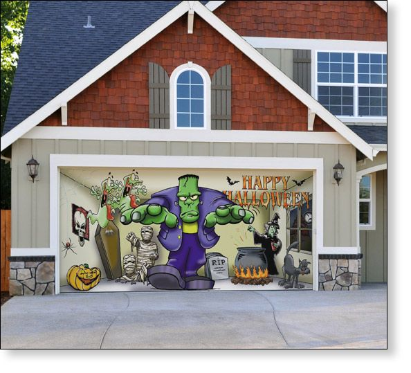 Ok Take Away The Halloween Garage Door Print I Really Love The
