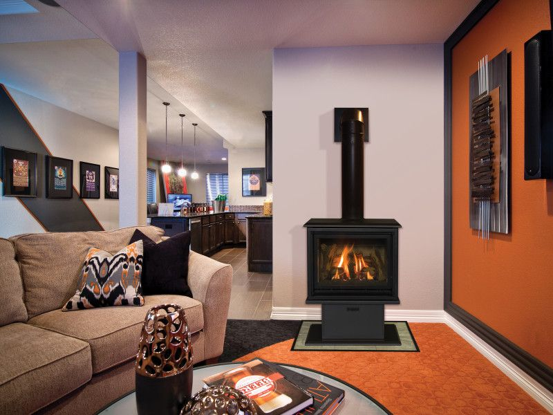 The Birchwood Free Standing Gas Fireplace Provides The Detailing Of A Wood Burning Stove But Offers The Conveni Freestanding Fireplace Gas Fireplace Fireplace