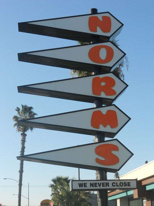 Norms Restaurant Sign Anaheim Ca