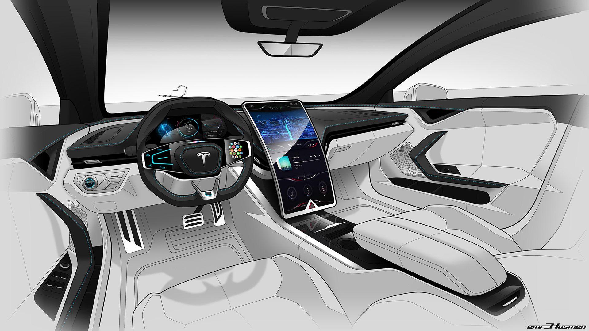 New Tesla Interior 2020